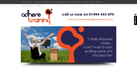 Adhere Training - www.adheretraining.co.uk